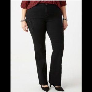 Denim - NWT Dressbarn Black embroidered jeans